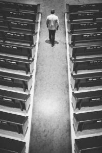 Man Walking Down Aisle